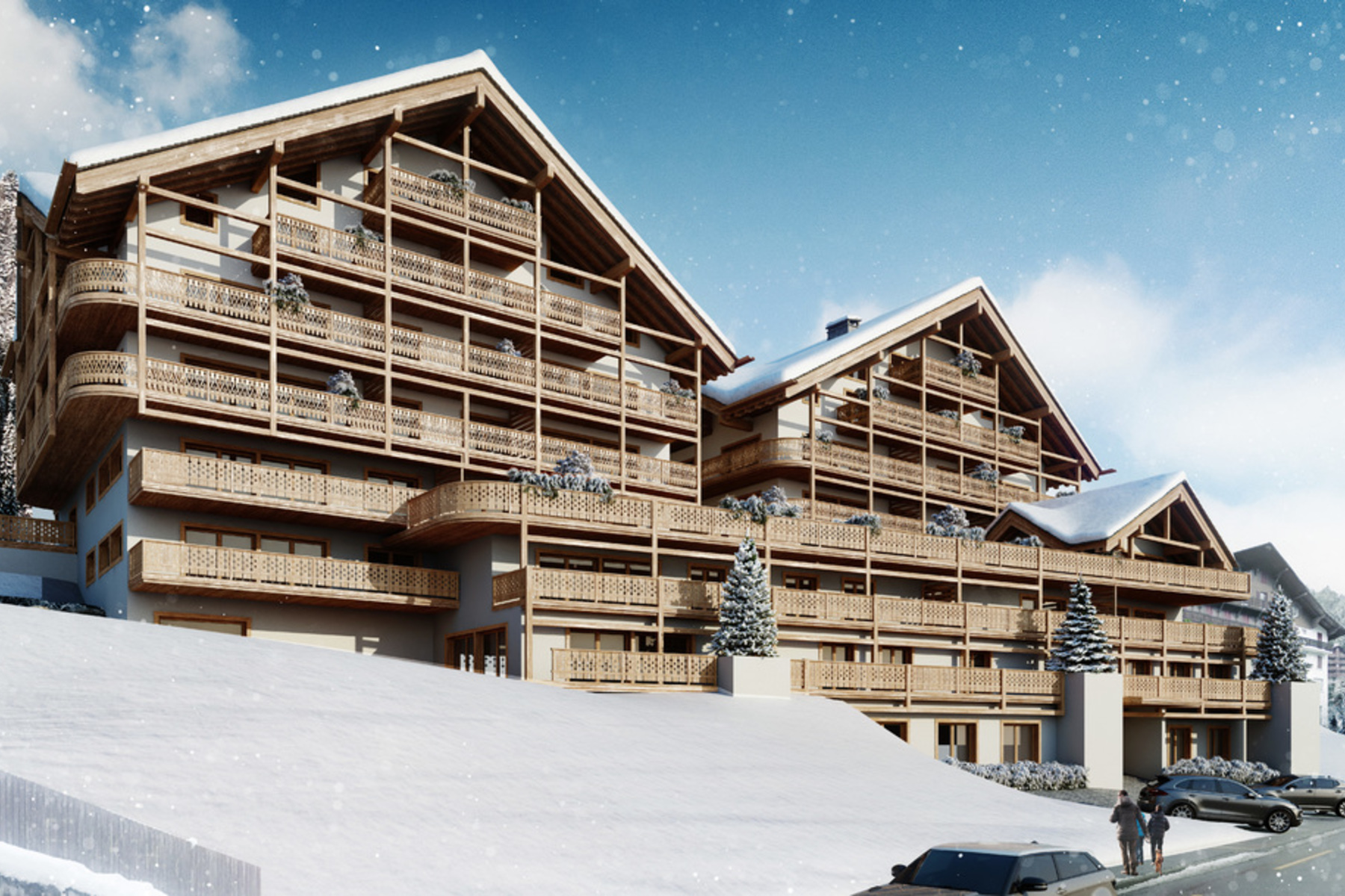Apartamento por un Venta en Résidence Le Montagnier - Luxury apartment right by the ski slopes Champéry Champery, Valais, 1874 Suiza