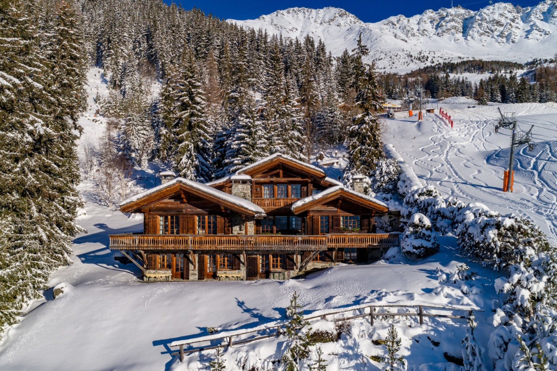 Single Family Homes for Sale at Chalet TROIS TOITS Verbier Verbier, Valais 1936 Switzerland