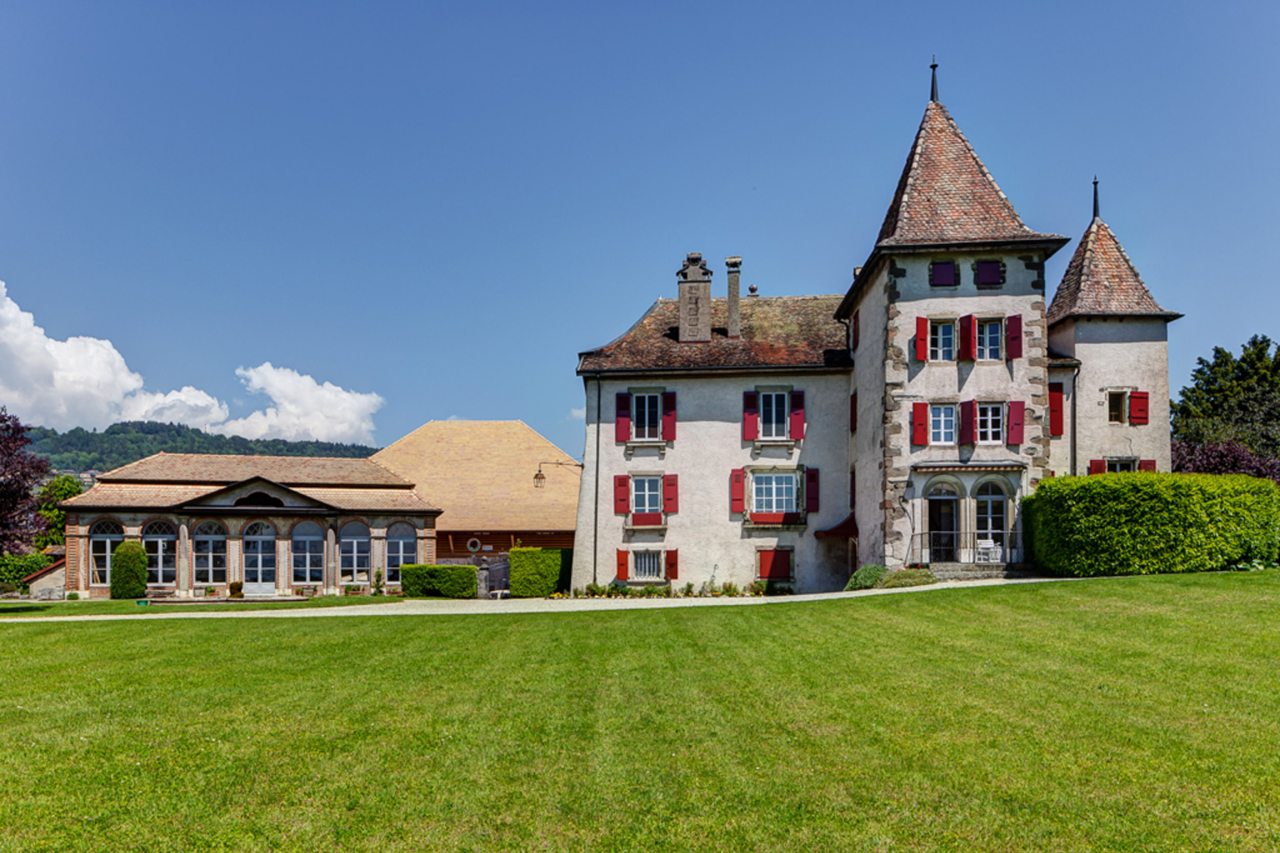 Single Family Home for Sale at Splendid 17th-century castle on La Côte Perroy Other Switzerland, Other Areas In Switzerland, 1166 Switzerland