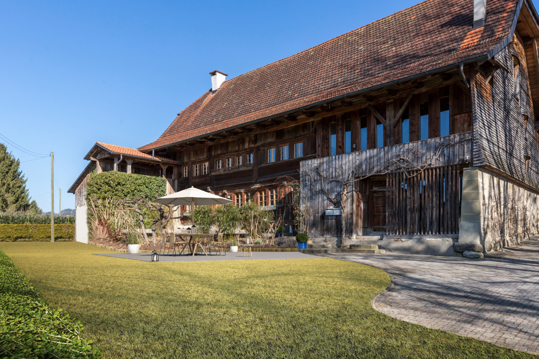 農場/牧場 / プランテーション のために 売買 アット Authentic 17th century Gruyères farmouse comprising three apartments La Roche FR Other Switzerland, スイスのその他の地域, 1634 スイス