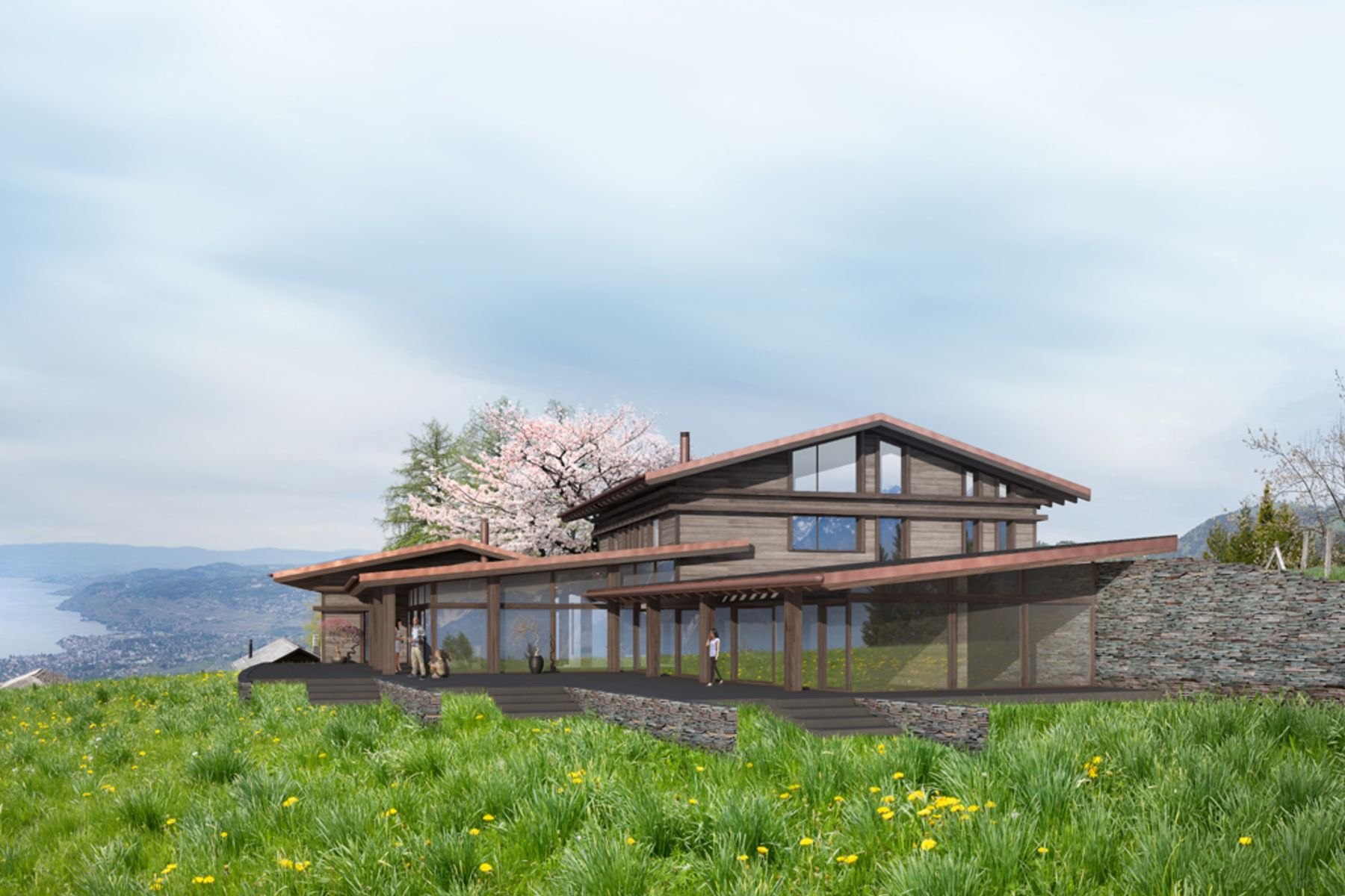 独户住宅 为 销售 在 Future property Luxurious layout Unique 360° panoramic view Caux/Montreux 蒙特勒, 沃州, 1820 瑞士