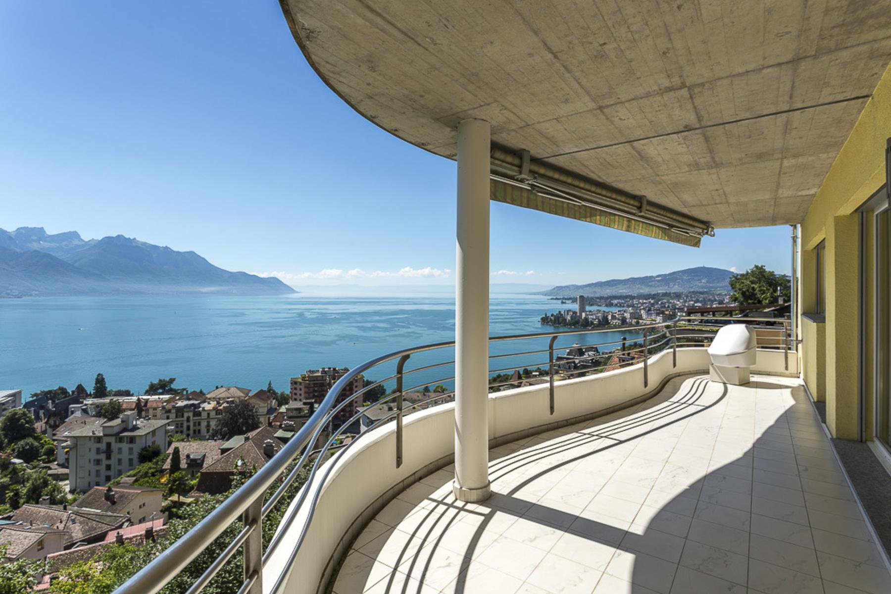 Кондоминиум для того Продажа на Stunning 4.5 room apartment enjoying total peace and quiet Unobstructed views o Territet Montreux, Во 1820 Швейцария
