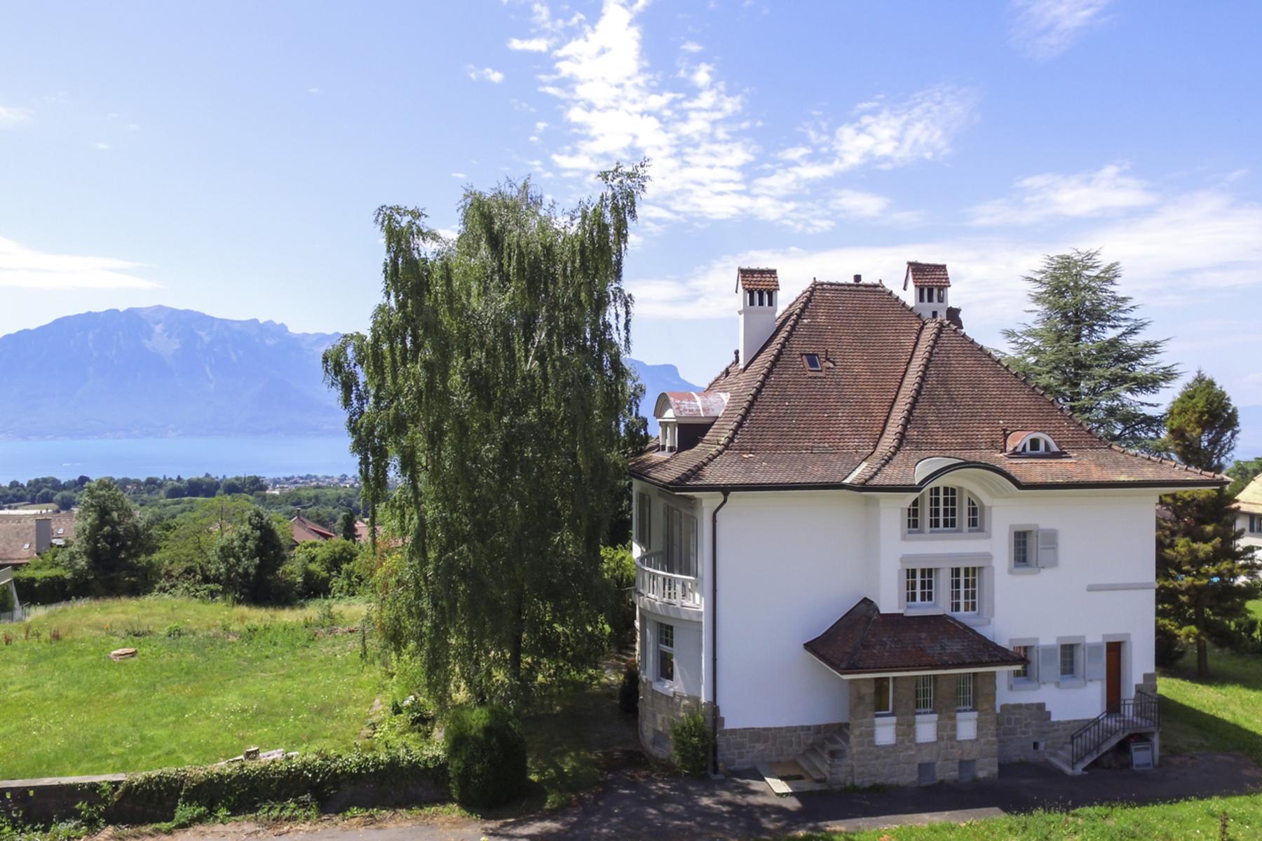 独户住宅 为 销售 在 Elegant mansion with panoramic views over the lake Saint-Légier-La Chiésaz, St Legier La Chiesaz, 沃州, 1806 瑞士