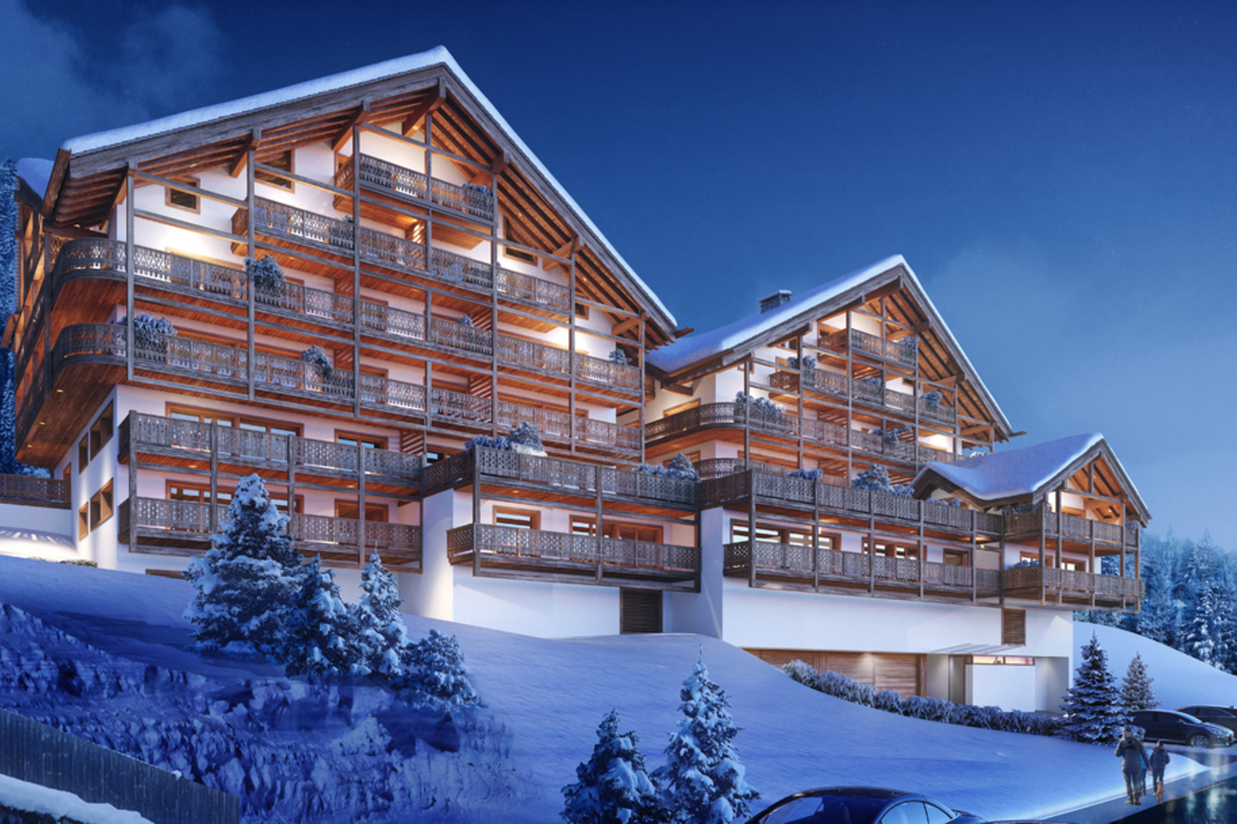 公寓 為 出售 在 Résidence Le Montagnier - Luxury apartment with 25 m² balcony Champéry Champery, 瓦萊州, 1874 瑞士
