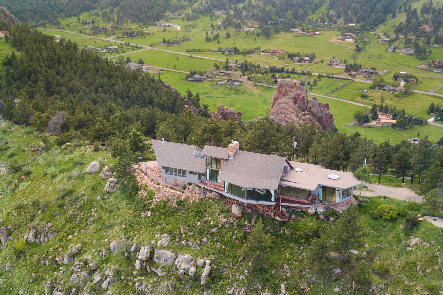 Single Family Home for Sale at 49 Acre Private Estate Property With Spectacular Views 9302 Eastridge Rd Golden, Colorado 80403 United States