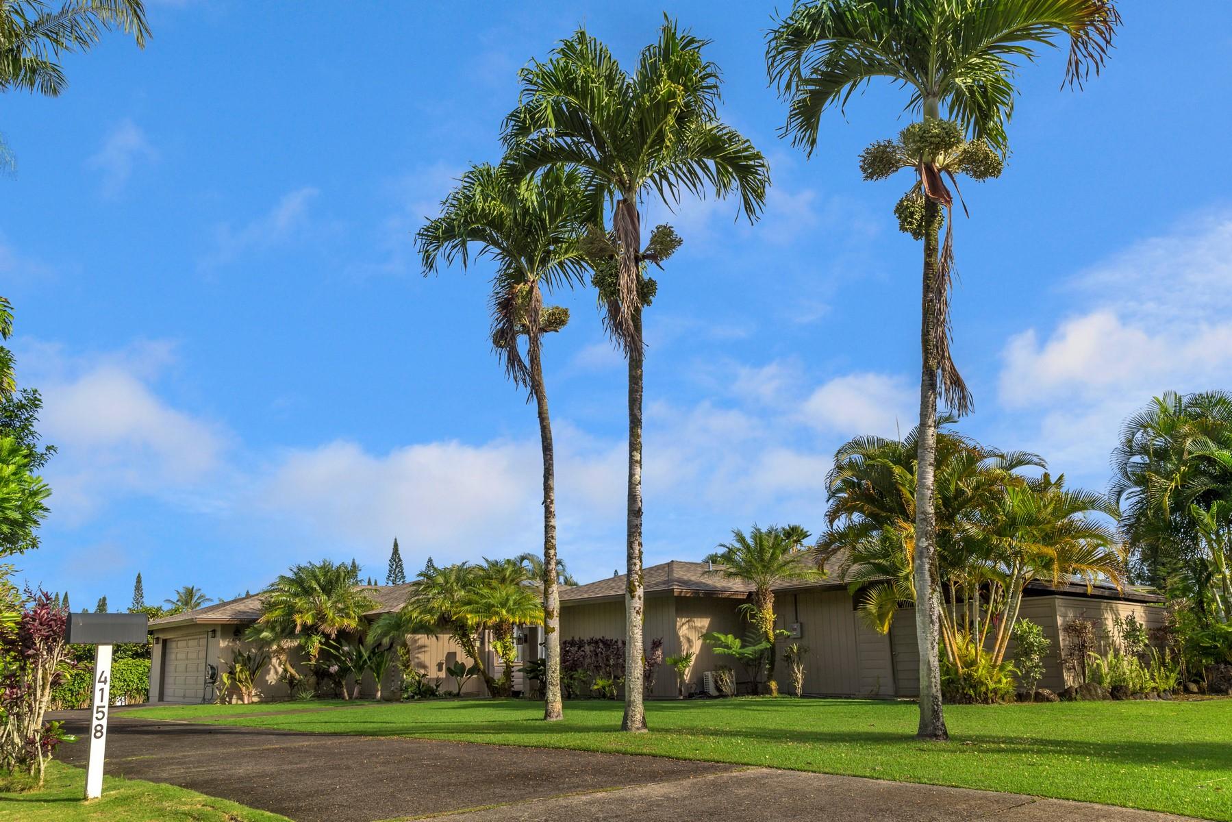 独户住宅 为 销售 在 4158 Kamalani Lane 4158 Kamalani Lane 普林斯维尔, 夏威夷 96722 美国