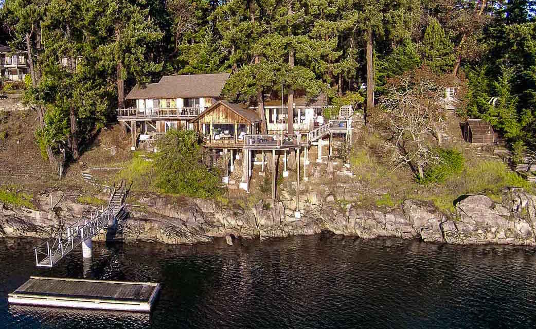 Single Family Home for Sale at Sun Drenched Oceanfront Home with Dock 234 Scott Point Drive Salt Spring Island, British Columbia, V8K 2R1 Canada