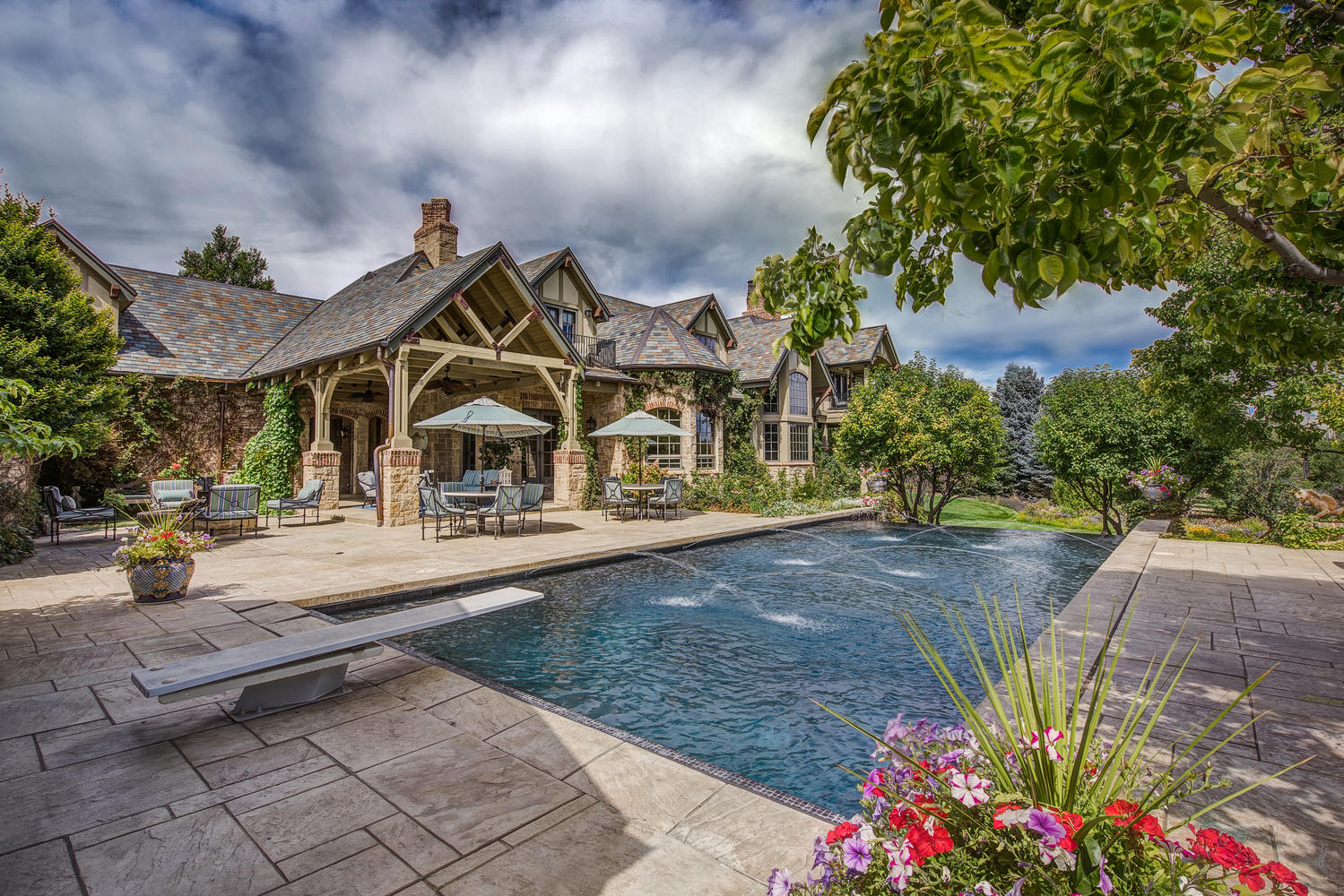 Single Family Home for Active at English Manor House with Splendid Sophistication & Elegant Appointments 4580 S Franklin Street Cherry Hills Village, Colorado 80113 United States