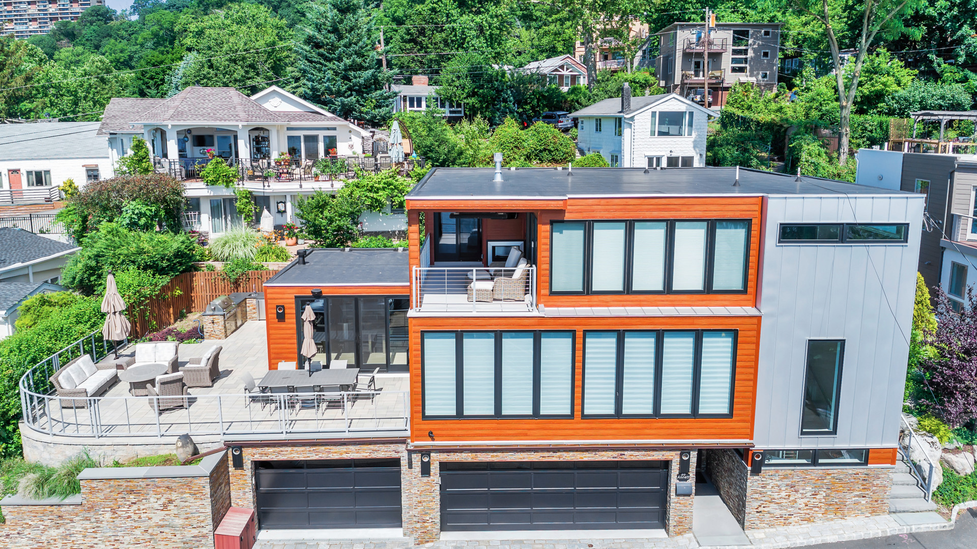 Single Family Home for Sale at An Architectural Masterpiece on the Hudson 20 Annett Ave Edgewater, New Jersey 07020 United States