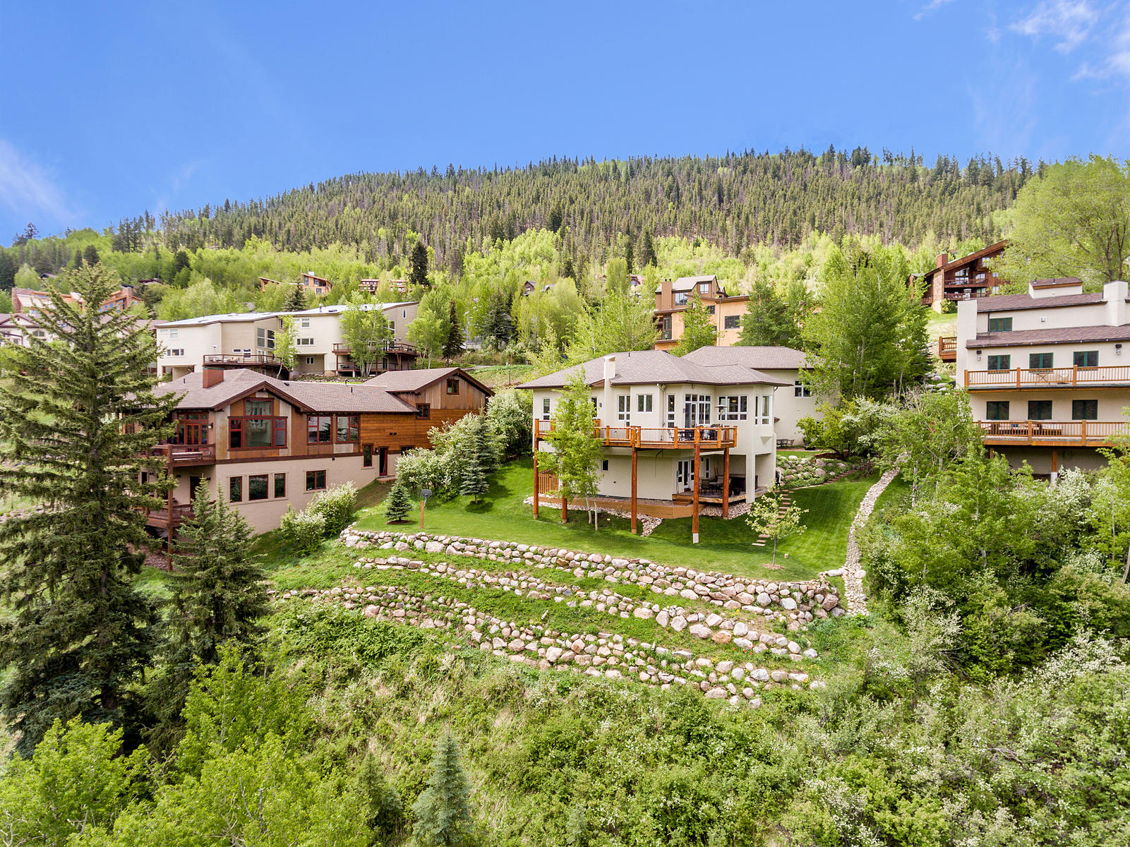 Single Family Home for Sale at Prestigious Whiskey Hill home with views of Castle Peak 205 Daisy Lane Avon, Colorado, 81620 United States