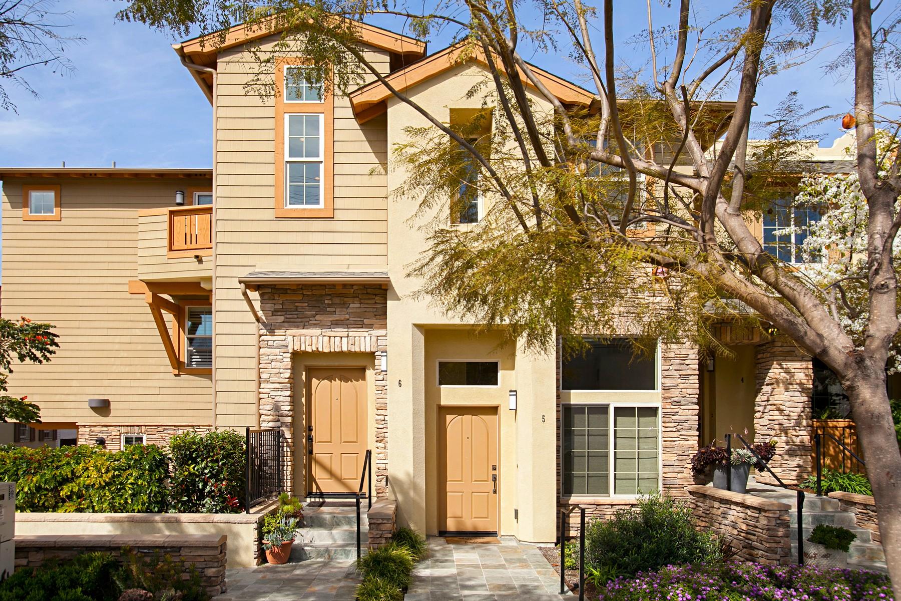 Maison accolée pour l Vente à 1056 Pearl Street 6 1056 Pearl Street, Unit 6 La Jolla, Californie, 92037 États-Unis