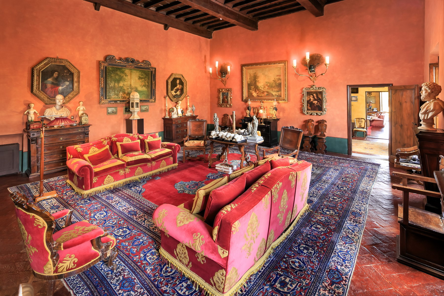 Apartment for Sale at Wonderful frescoed apartment nestled in the green Via della Piazzola Firenze, 50133 Italy
