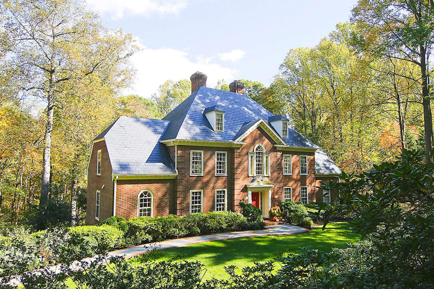 Single Family Home for Sale at Stately Georgian in Park-like Setting 9009 Clewerwall Dr Bethesda, Maryland, 20817 United States