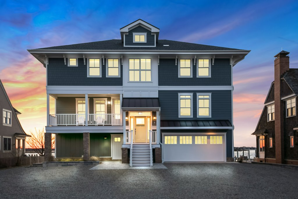 独户住宅 为 销售 在 New Coastal Craftsman Design On Barnegat Bay 1004 Barnegat Lane, 洛金, 新泽西州 08738 美国