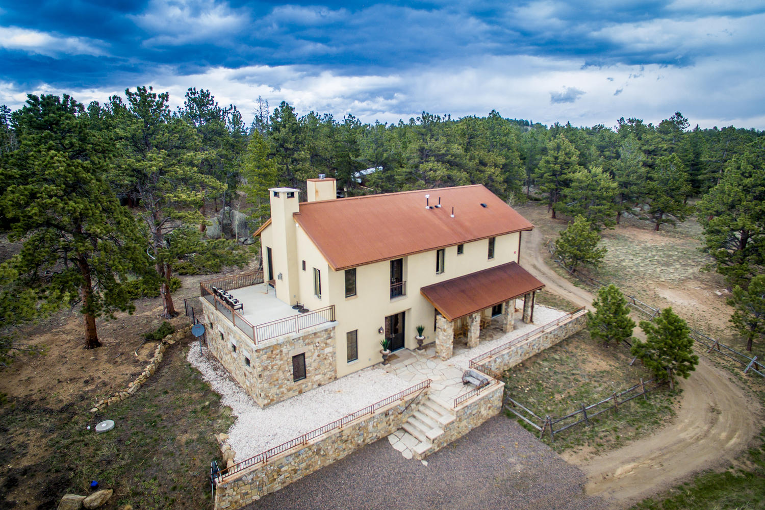 Single Family Home for Active at Impressive Italian Farmhouse With A Guest Cottage 6981 Overland Road Ward, Colorado 80481 United States