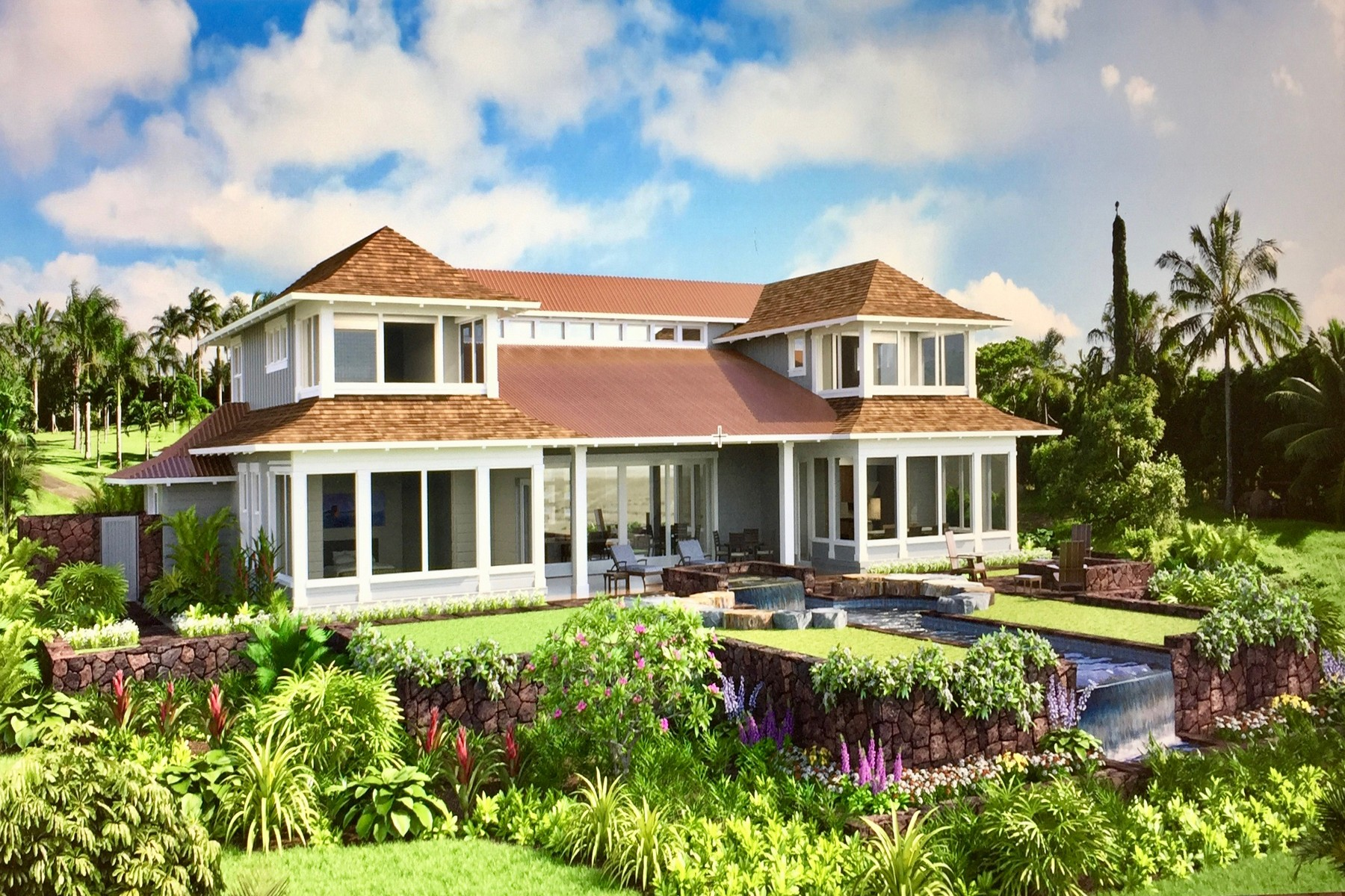 Частный односемейный дом для того Продажа на THE HAIKU HOUSE...Rare Ocean Front New Construction in Haiku, Maui 40 Hale Pili Way, Lot 15 Aina O Ka Hale Pili Haiku, Гавайи, 96708 Соединенные Штаты