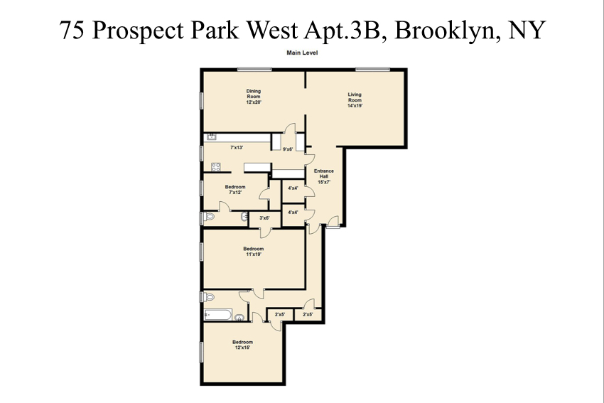 Co-op for Sale at 75 PROSPECT PARK WEST, APT. 3B Brooklyn, New York 11215 United States