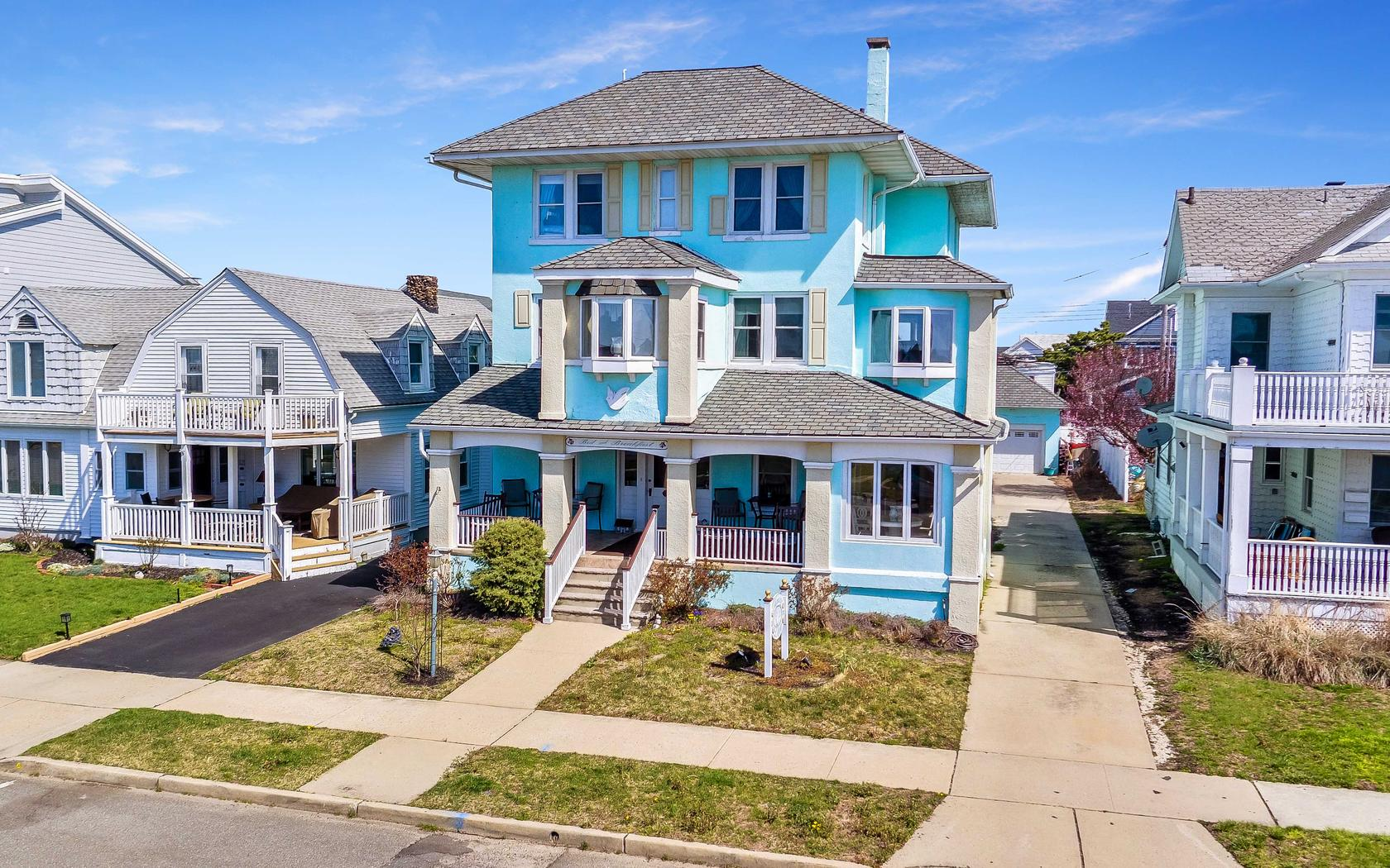 Single Family Home for Sale at Spacious Belmar Shore Colonial 204 5th Avenue Belmar, New Jersey, 07719 United States