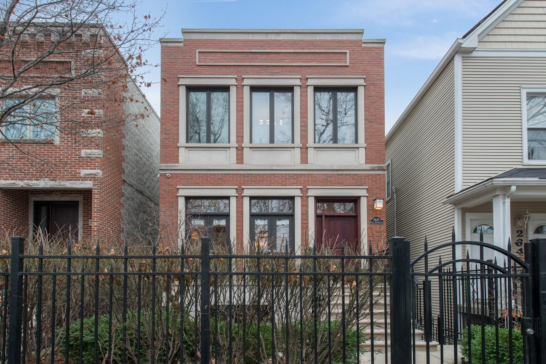 Maison unifamiliale pour l Vente à Elegant Single Family Home in Lincoln Park 2645 N Marshfield Avenue Lincoln Park, Chicago, Illinois, 60614 États-Unis
