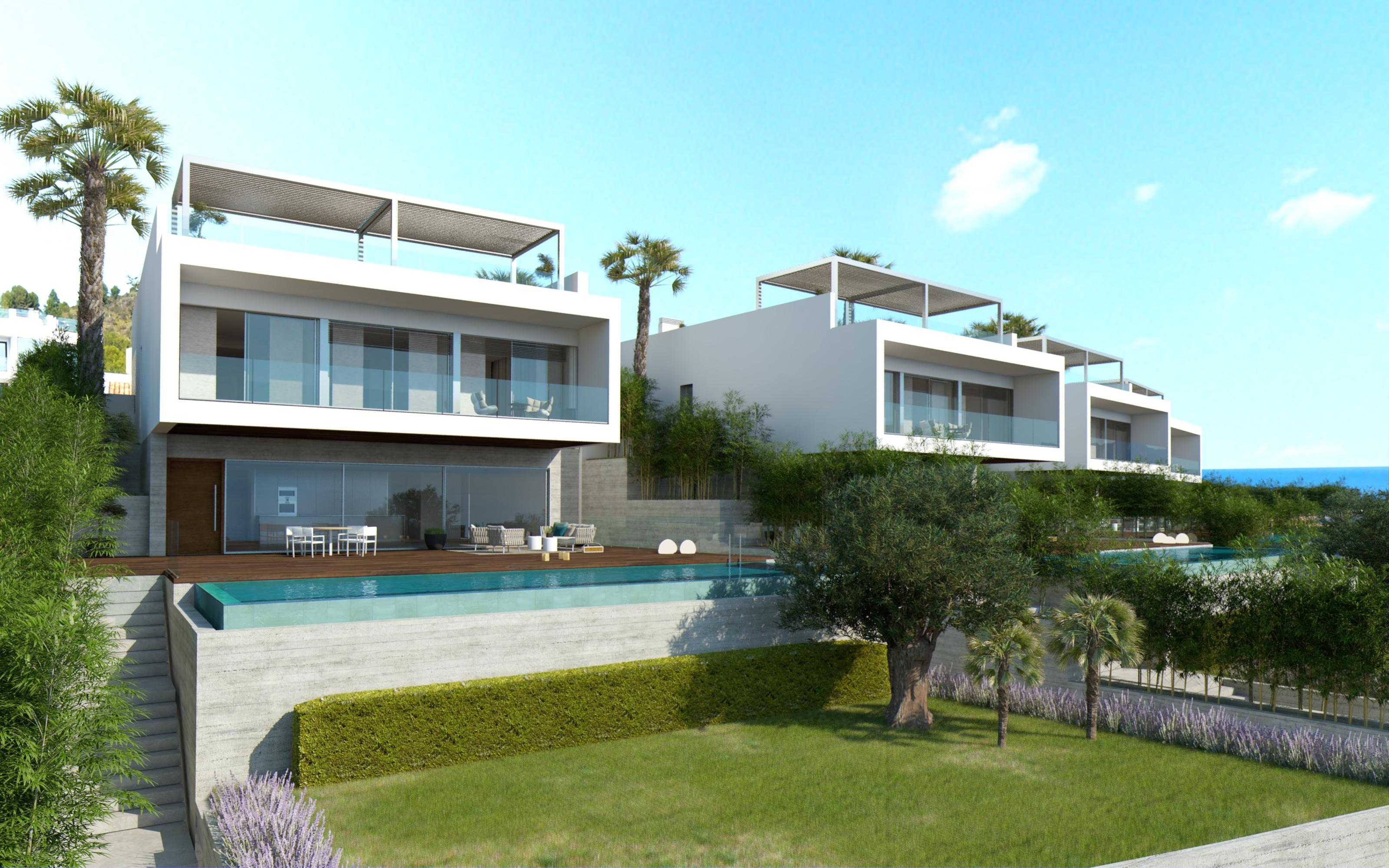Casa Unifamiliar por un Venta en Newly built luxury villas with sea views, Alcanada Alcudia, Mallorca, 07400 España