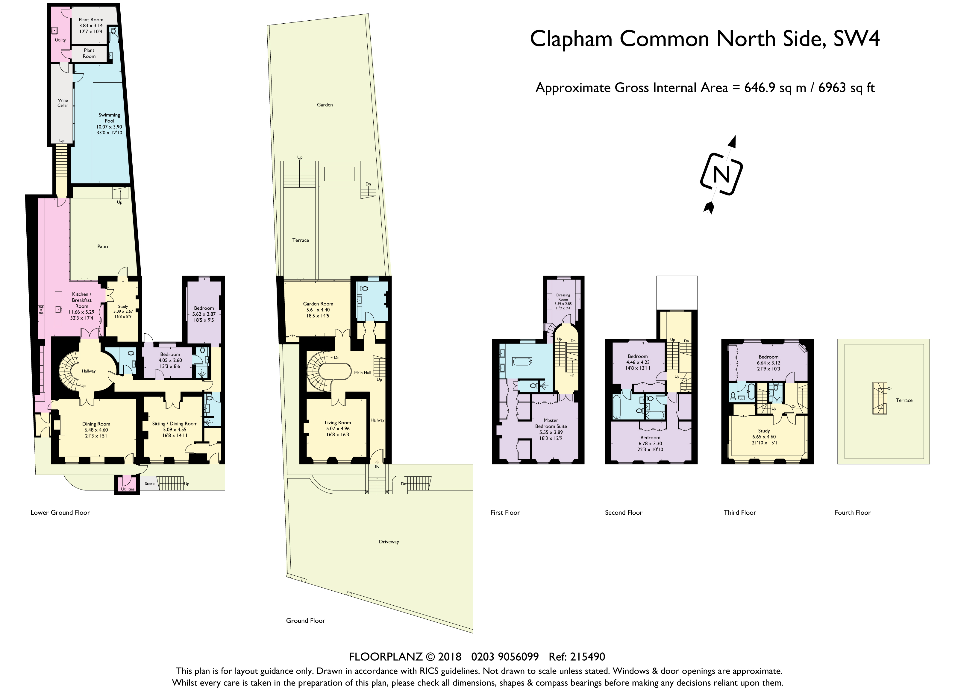 townhouses for Sale at 42 Clapham Common North Side London, England SW4 0AA United Kingdom