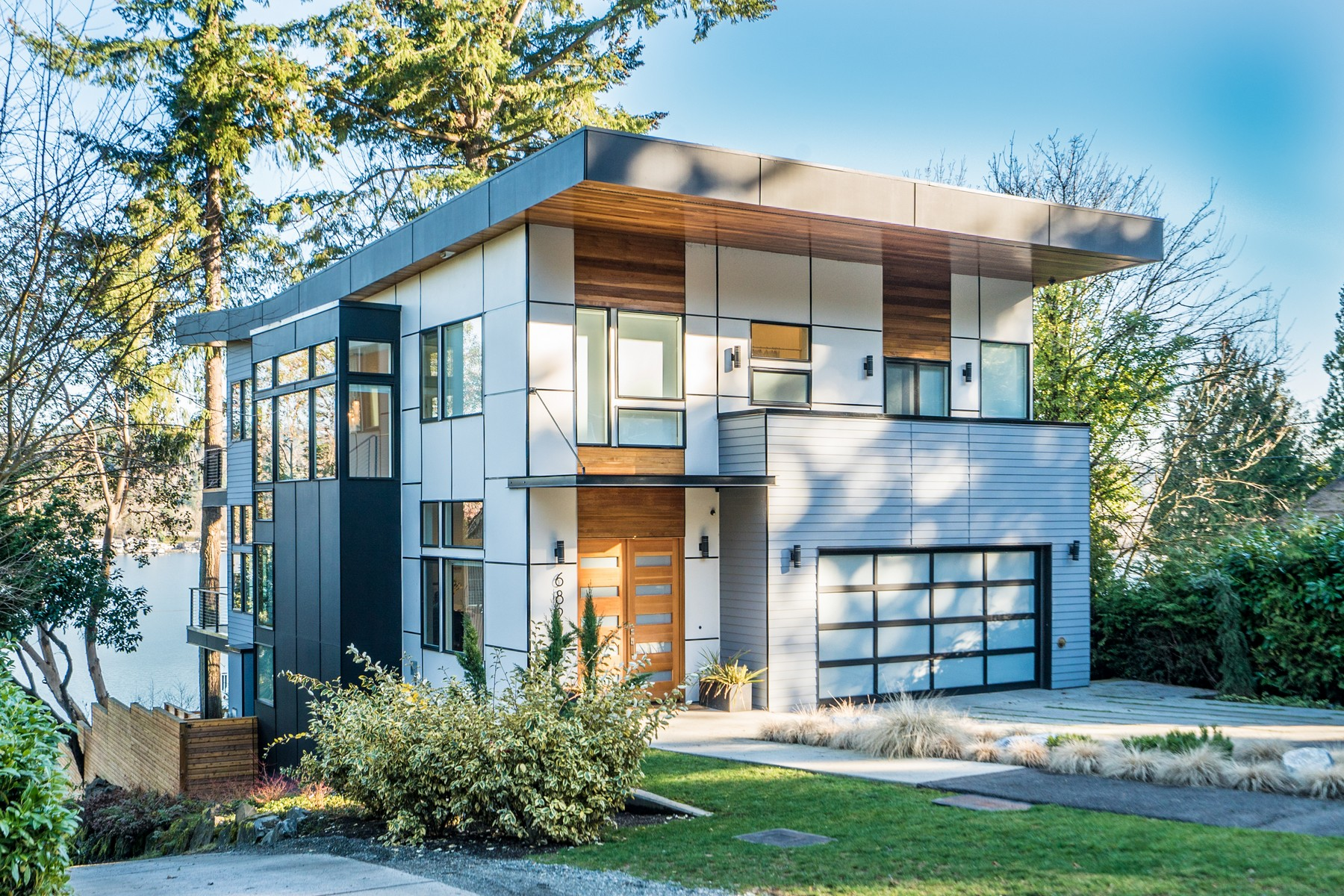 Single Family Home for Sale at Lake View Modern 6822 96th Ave SE Mercer Island, Washington 98040 United States