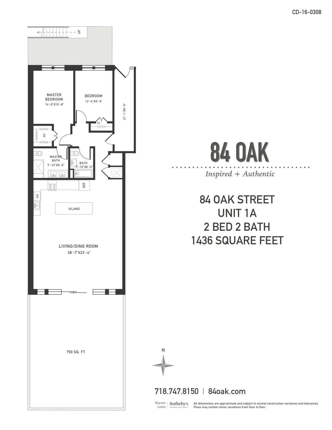 Condominium for Sale at 84 Oak 84 Oak Street 1A Brooklyn, New York 11222 United States