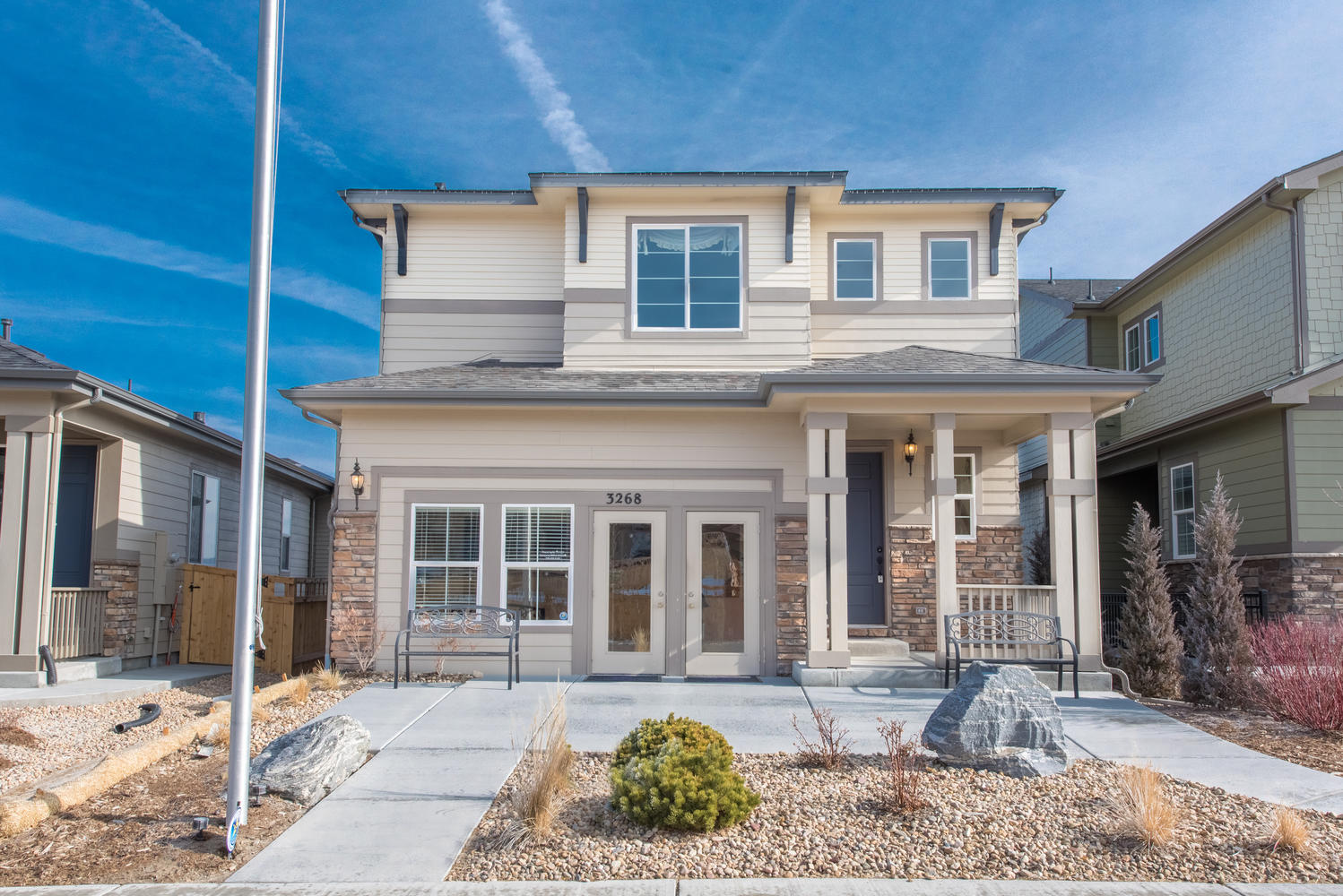 Single Family Home for Sale at Chic designer model with open floor plan 3268 Youngheart Way Castle Rock, Colorado, 80109 United States