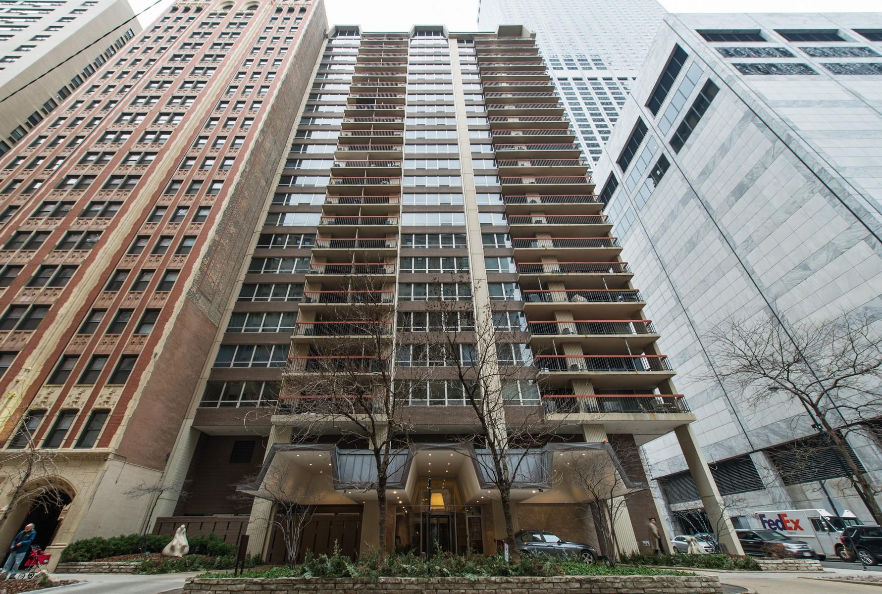 Copropriété pour l Vente à Beautiful Corner Unit 201 E Chestnut Street Unit 14A Chicago, Illinois, 60611 États-Unis
