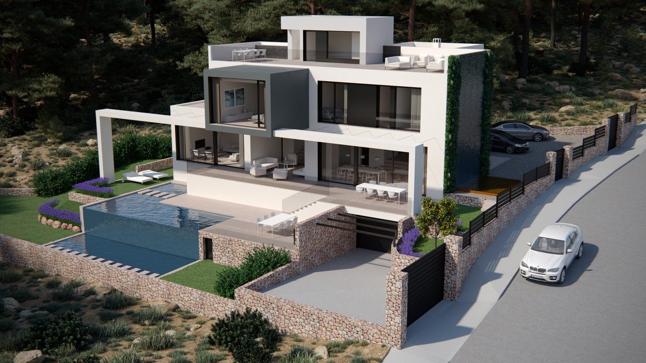 Casa Unifamiliar por un Venta en Villa in a quiet residential area of Port Andratx Port Andratx, Mallorca, 07157 España