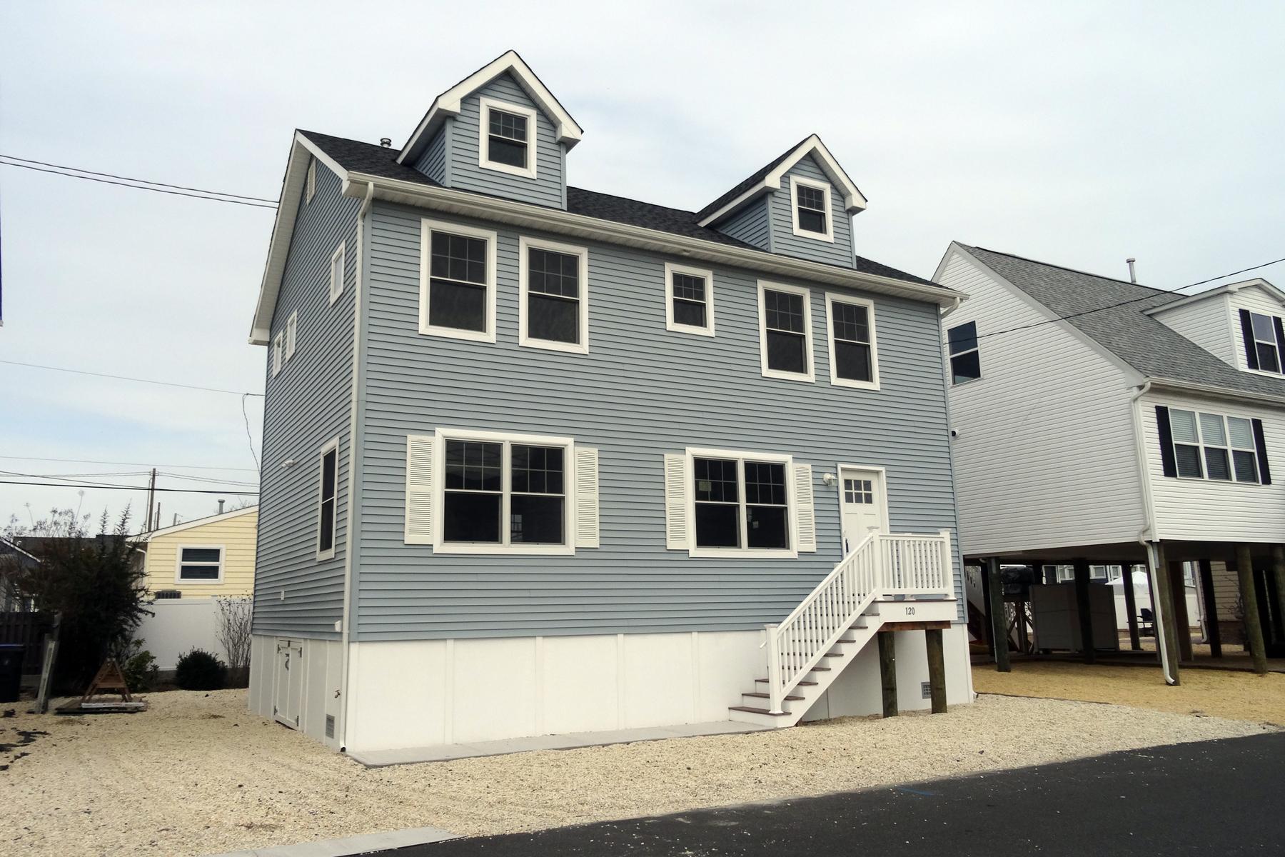 Частный односемейный дом для того Продажа на Newly Constructed Sunset Manor Shore Colonial 120 Kathryn Street Lavallette, Нью-Джерси 08735 Соединенные Штаты