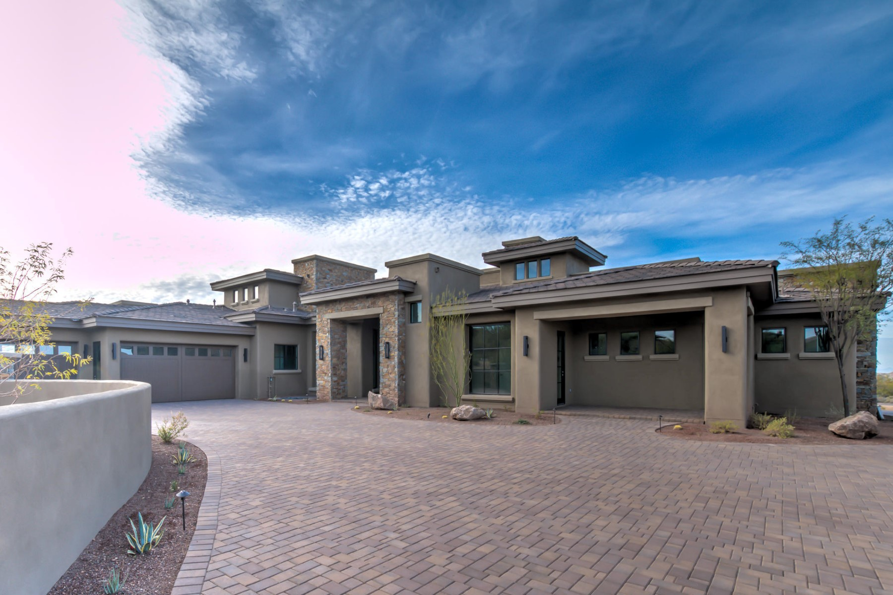 Single Family Home for Sale at Contemporary home within Desert Mountain's Village of Gambel Quail 9386 E Andora Hills Dr Scottsdale, Arizona, 85262 United States