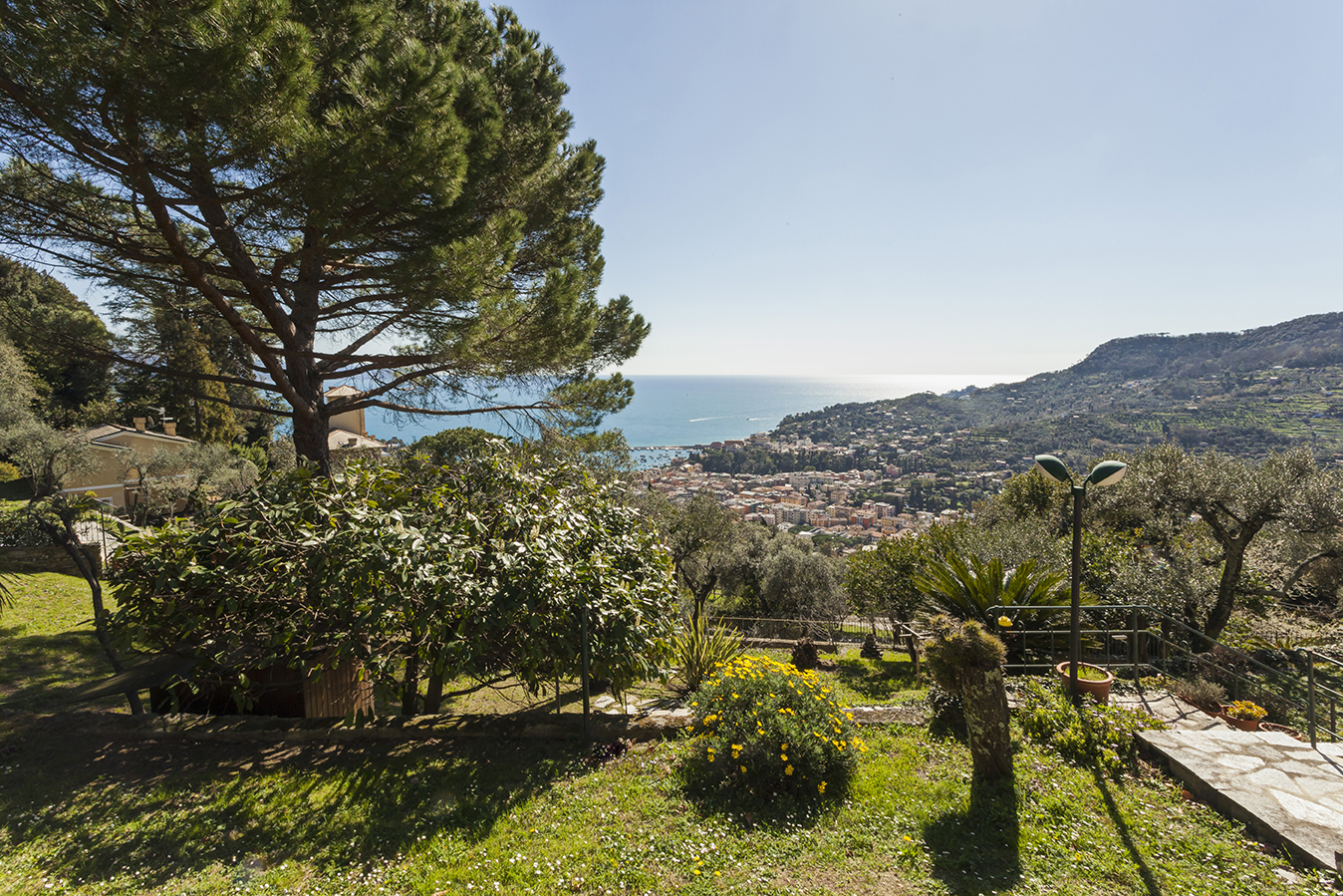 Single Family Home for Sale at Exsclusive villa with breathtaking view via Aurelia Santa Margherita Ligure, Genoa 16038 Italy