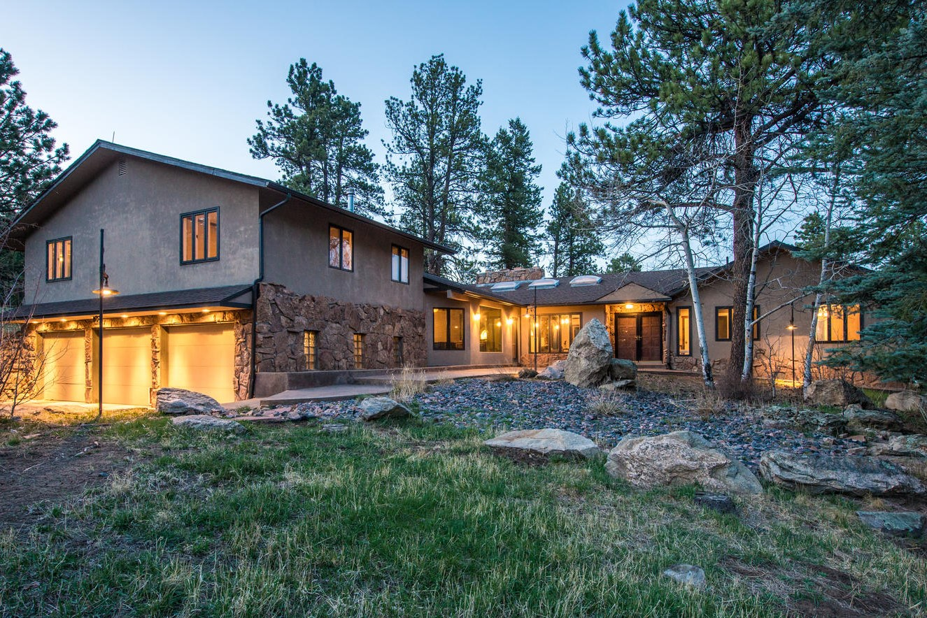Single Family Home for Active at Remodeled Home on a Creek Side Setting 32892 Buffalo Creek Road Evergreen, Colorado 80439 United States