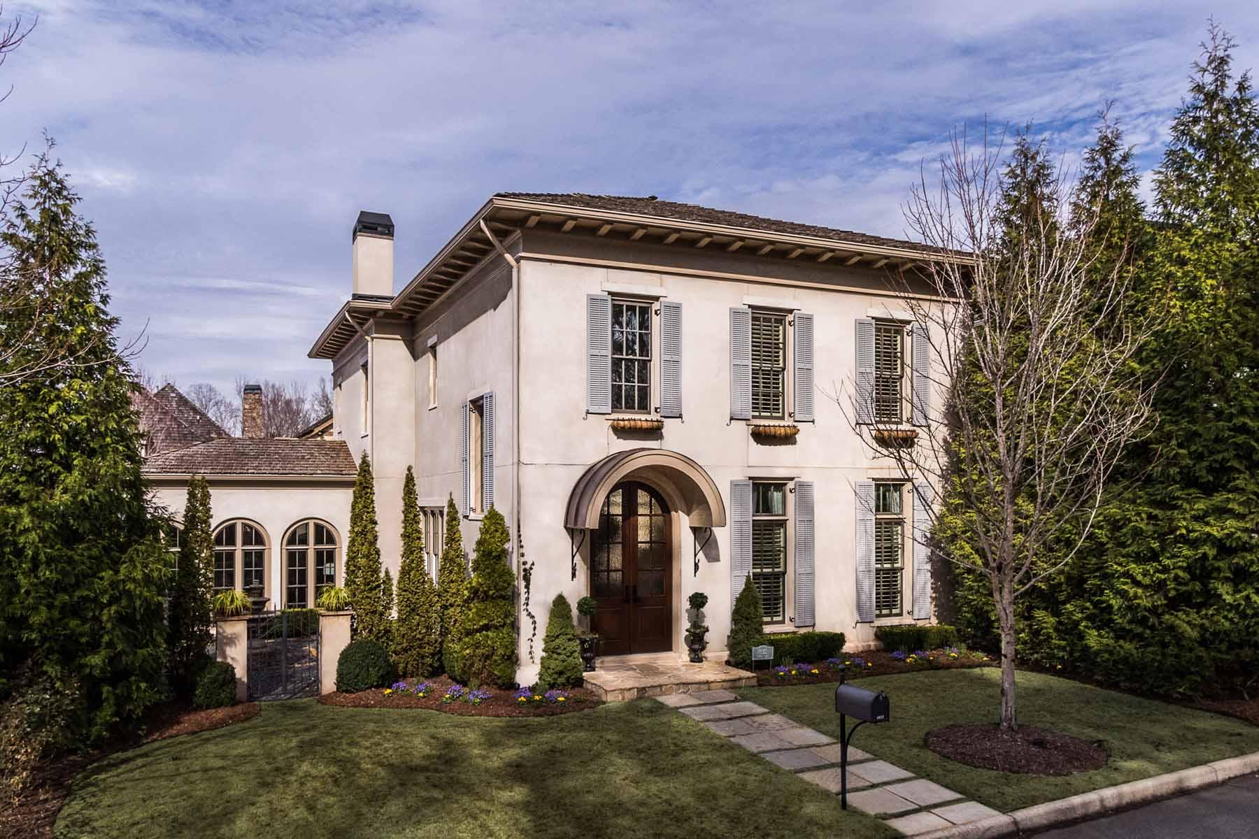 Single Family Home for Sale at Beautiful European Style Villa in Vickery 6835 Bucks Road Cumming, Georgia, 30040 United States