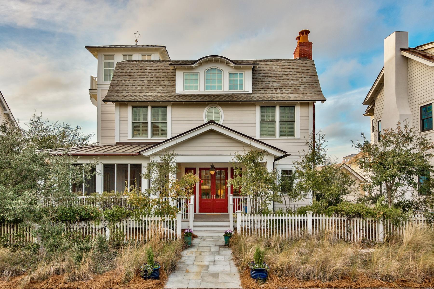 独户住宅 为 销售 在 IDEAL WATERSOUND BEACH HOME FULL OF CHARM AND PERSONALITY 22 Founders Lane Watersound, 佛罗里达州, 32461 美国