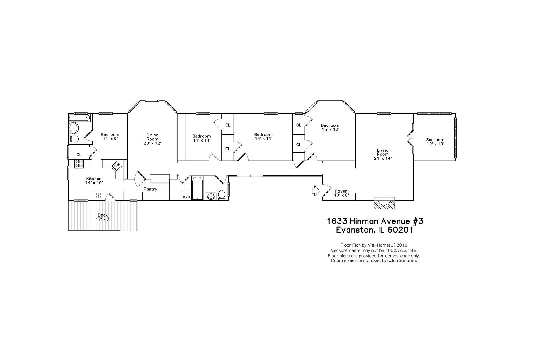 Additional photo for property listing at Spacious Vintage Evanson Condo 1633 Hinman Avenue Unit 3S Evanston, Illinois 60201 United States