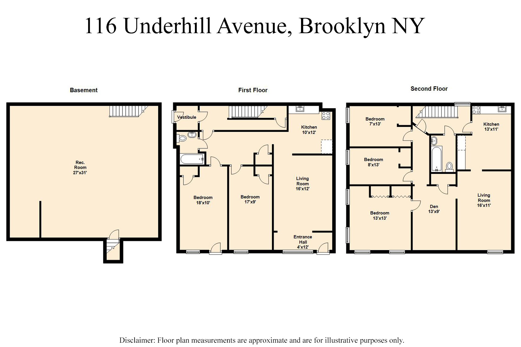 Multi-Family Home for Sale at 114 Underhill Avenue Brooklyn, New York 11238 United States