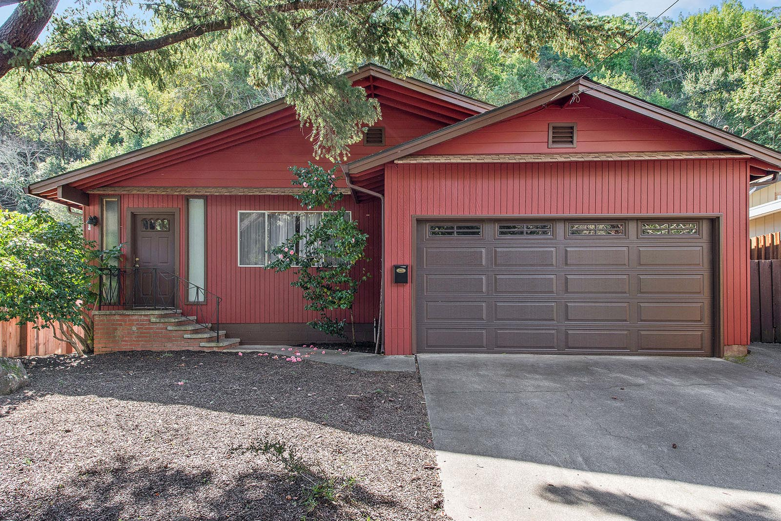Single Family Home for Sale at One Level Ranch Home on Private Lot 179 Bothin Road Fairfax, California 94930 United States
