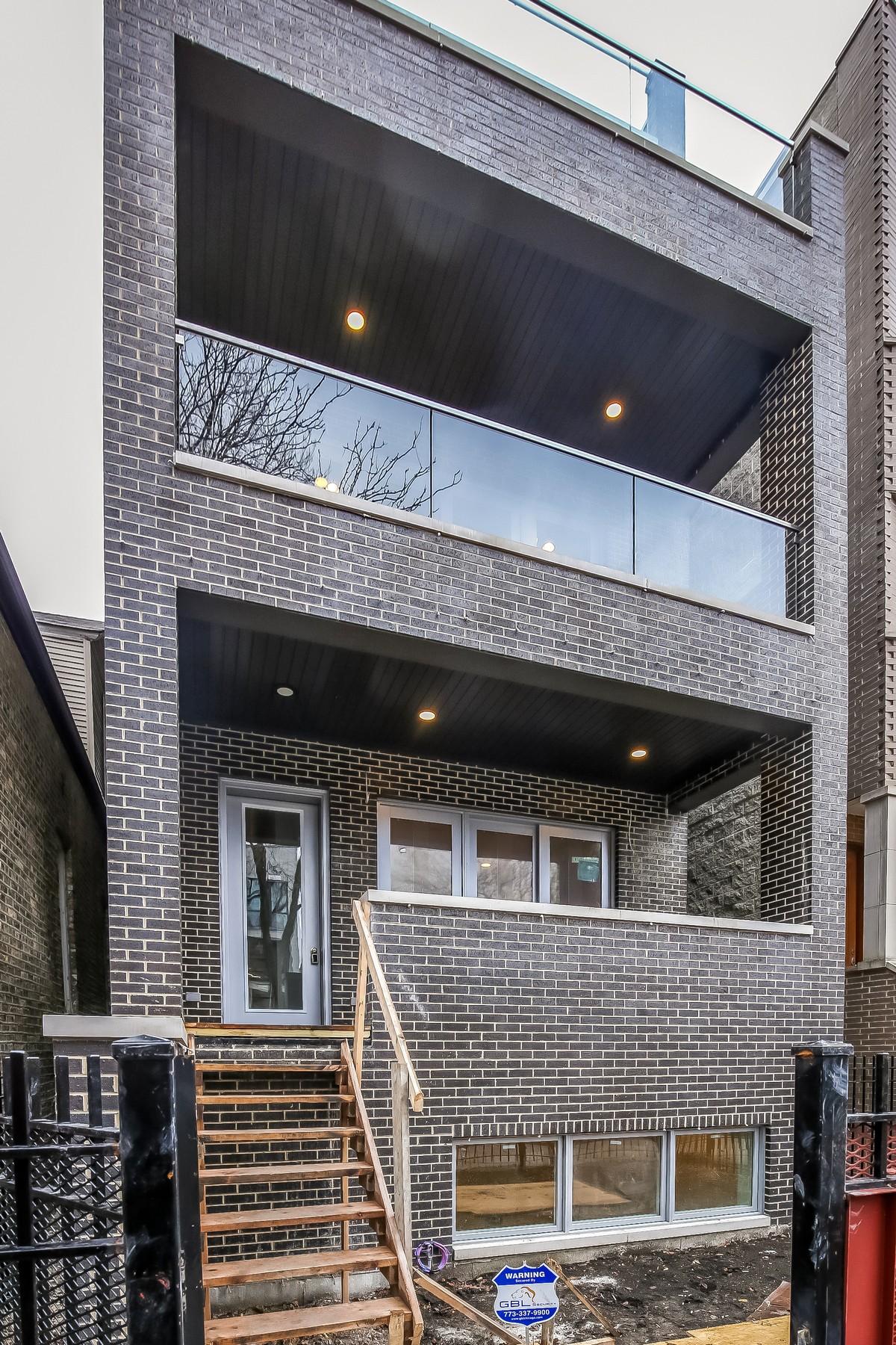 Condominium for Sale at Stunning New Construction 2739 W Cortez Street Unit 2 Humboldt Park, Chicago, Illinois, 60622 United States