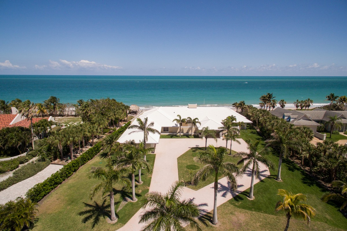 Single Family Home for Sale at Oceanfront Entertaining at its Finest 2135 N Porpoise Point Lane Vero Beach, Florida, 32963 United States