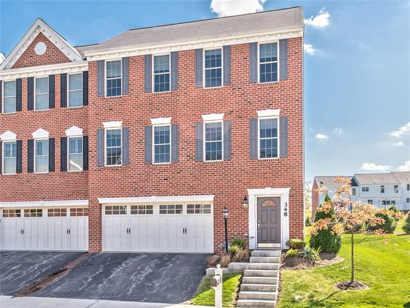 Townhouse for Rent at Magnificent Wexford Townhome 348 Marshall Heights Drive Pittsburgh, Pennsylvania 15090 United States