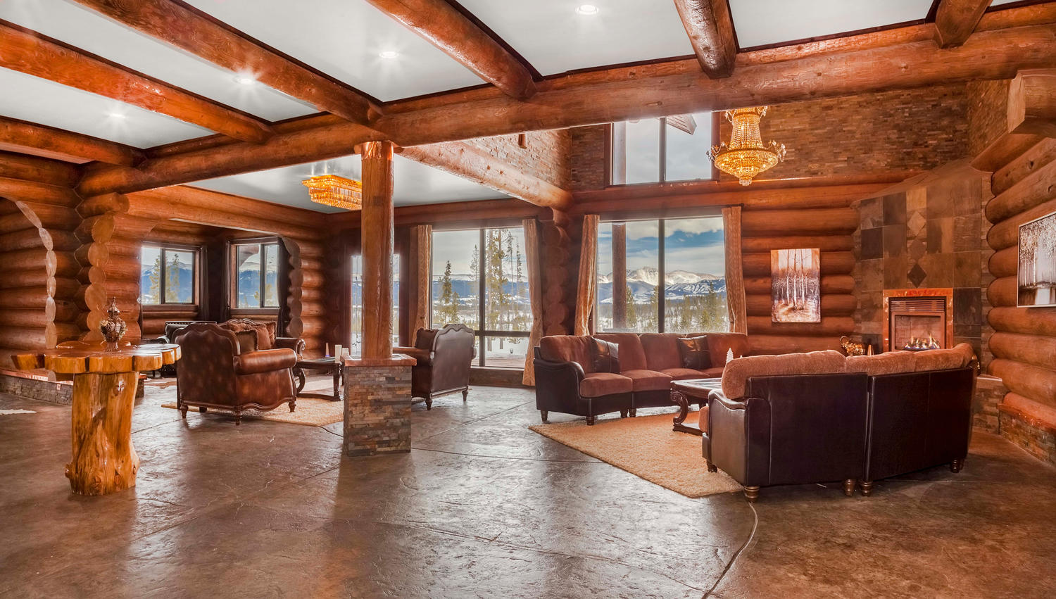 Single Family Home for Active at Incredible Energy Efficient Log Estate 119 E Elk Meadows Dr Tabernash, Colorado 80478 United States