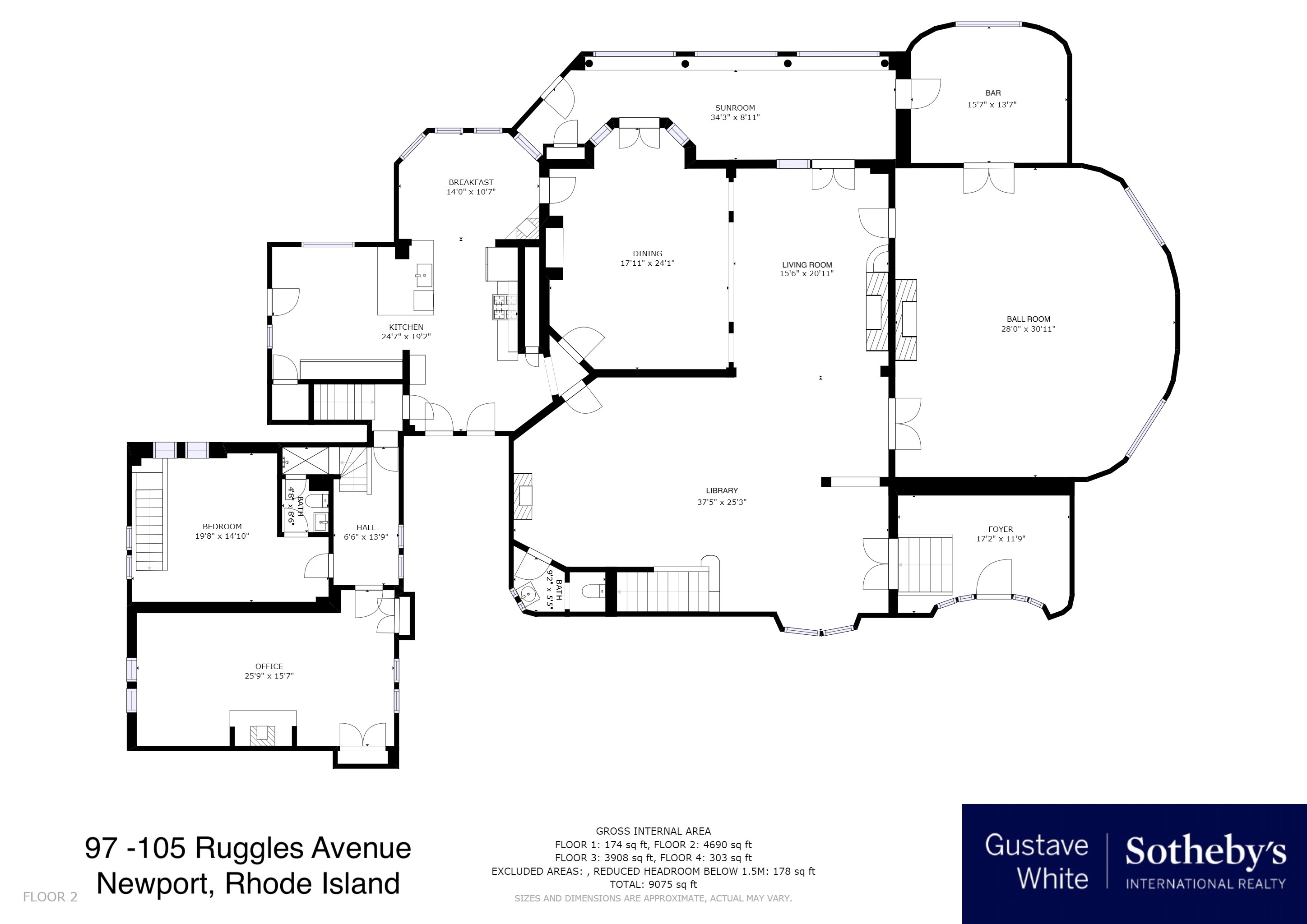 Single Family Homes for Sale at 'Hilltop' 97 105 Ruggles Avenue Newport, Rhode Island 02840 United States