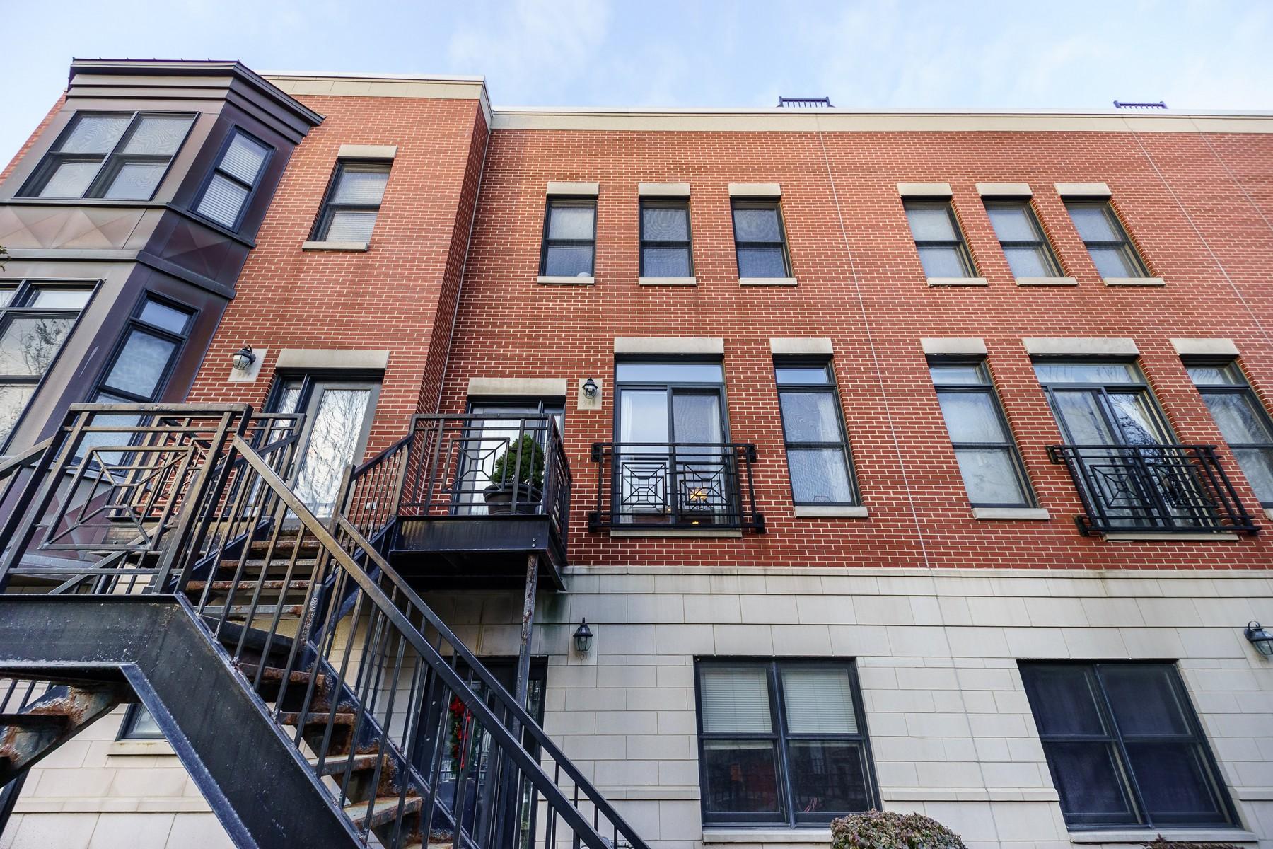 タウンハウス のために 売買 アット Beautifully Maintained University Village Townhome 948 W College Parkway Near West Side, Chicago, イリノイ, 60608 アメリカ合衆国
