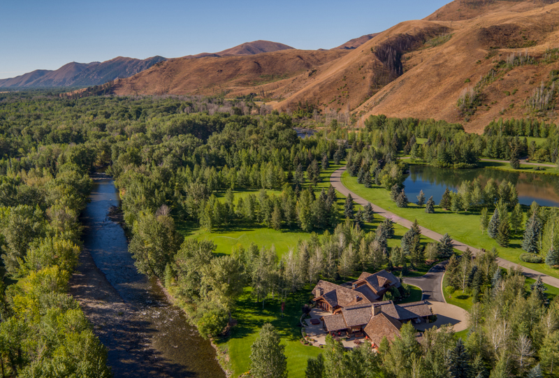 Single Family Home for Sale at On The River In Golden Eagle 180 S Golden Eagle Dr Ketchum, Idaho 83340 United States