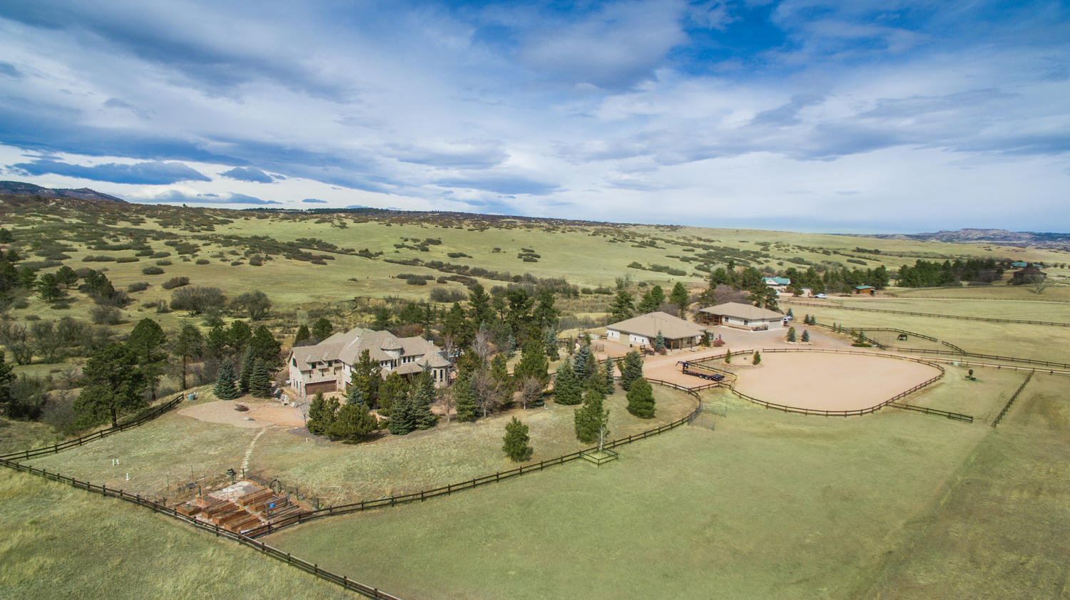 Single Family Home for Sale at Gated extraordinary home on 35 acres 501 Allis Ranch Rd Sedalia, Colorado, 80135 United States