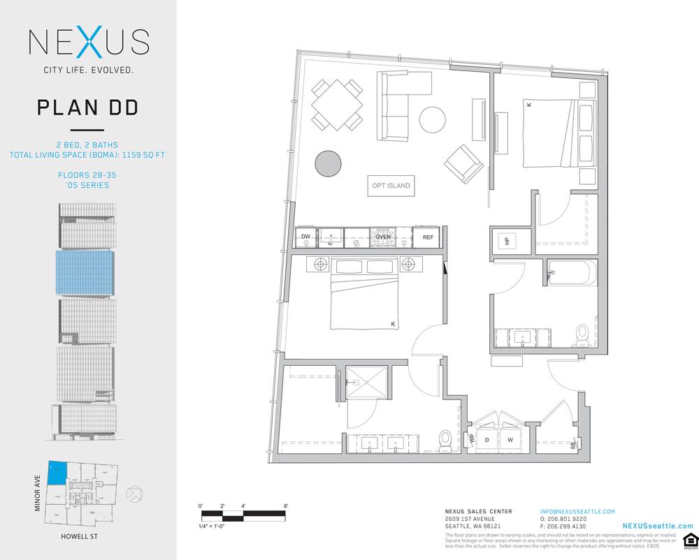 Additional photo for property listing at NEXUS–City Life. Evolved. #2805 1200 Howell Street #2805 Seattle, Washington 98101 United States