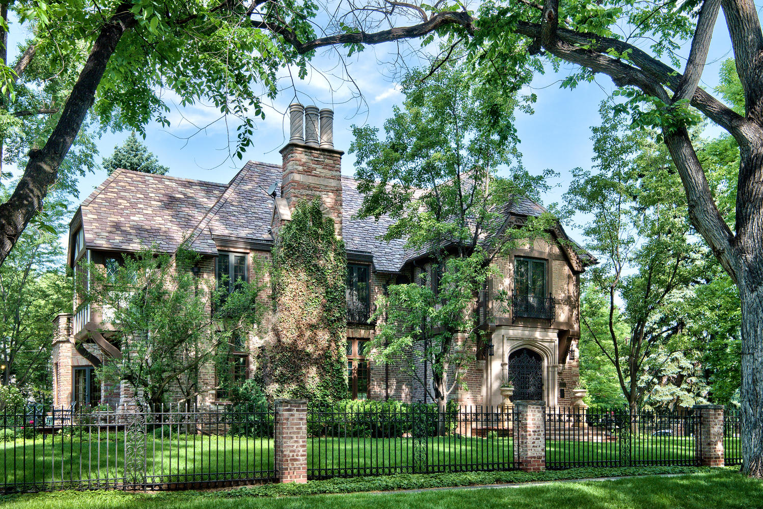 Single Family Home for Sale at Spectacular Tudor on a Beautiful Half Acre in Historic Denver Country Club 177 Humboldt Street Denver, Colorado, 80218 United States