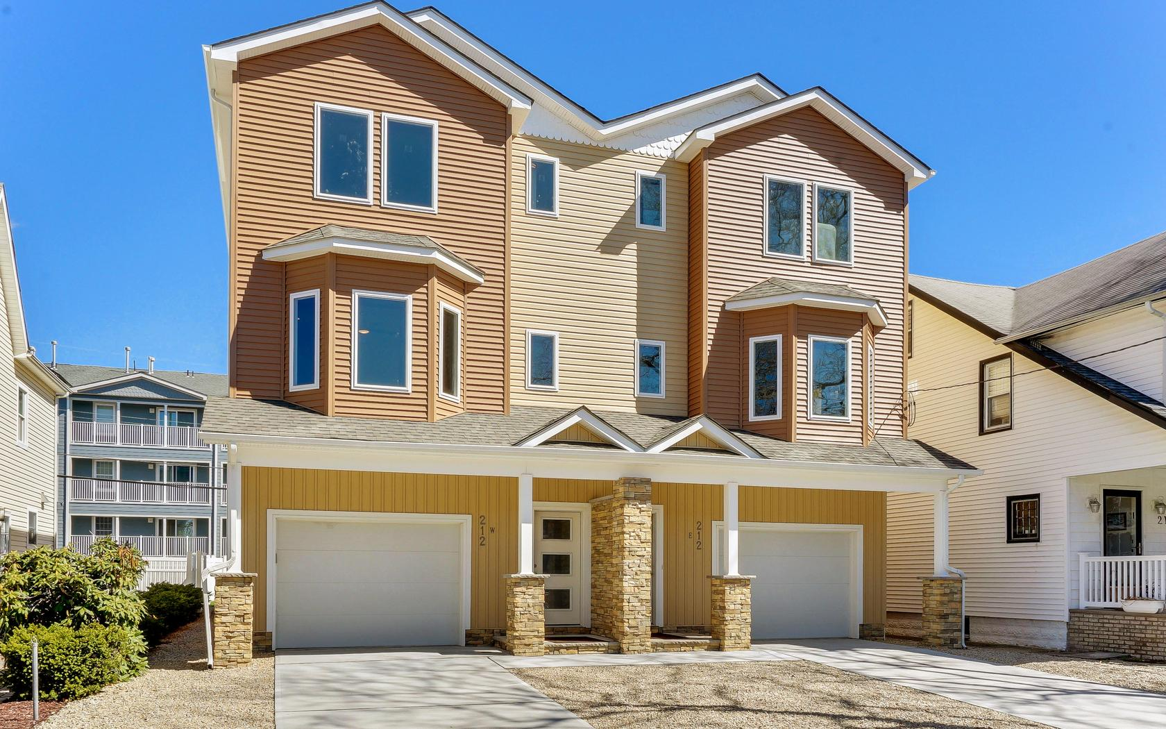 Townhouse for Sale at Townhouse Near Beach 212 McCabe Ave West Bradley Beach, New Jersey 07720 United States